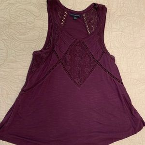 American Eagle Maroon Tank Top